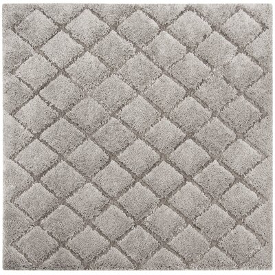 Felten Light Gray Area Rug Rug Size: Square 67 x 67