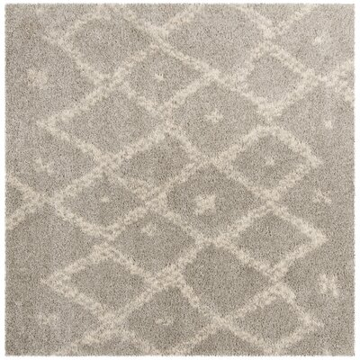 Amicus Gray/Beige Area Rug Rug Size: Square 67