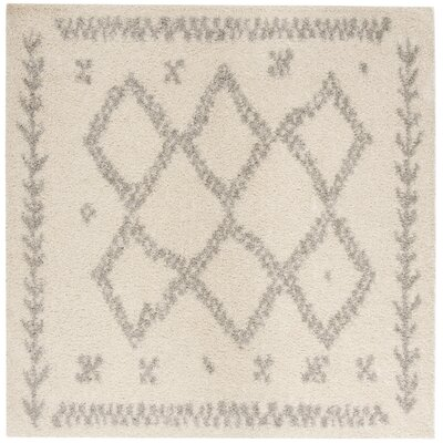 Amicus Beige/Gray Area Rug Rug Size: Square 6'7''