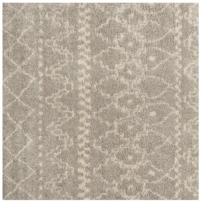 Amicus Gray/Ivory Area Rug Rug Size: Square 67