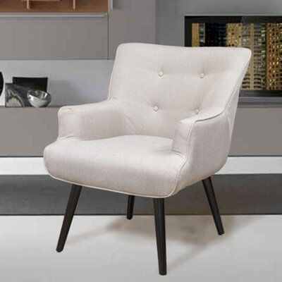 Pontius Accent Wingback Chair Upholstery: Beige