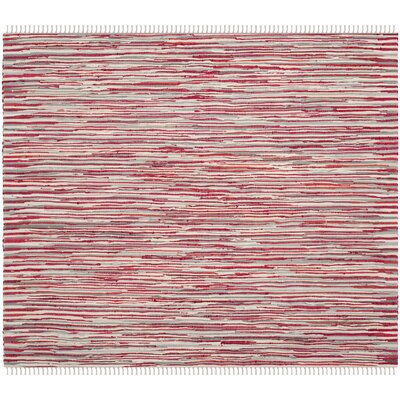 Shatzer Hand-Woven Red Area Rug Rug Size: Square 6