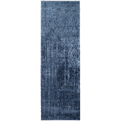 Tenth Avenue Light Blue / Blue Area Rug Rug Size: Runner 23 x 15