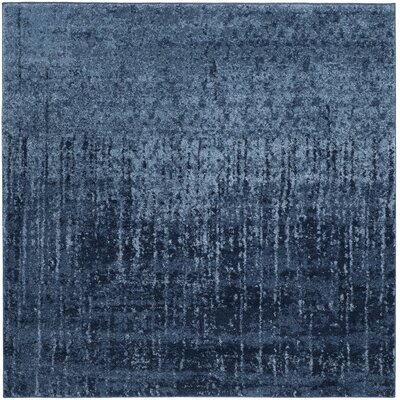 Tenth Avenue Light Blue / Blue Area Rug Rug Size: Square 6