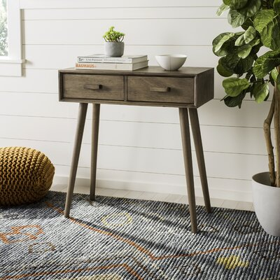 Crepeau 2 Drawer Console Table Color: Brown