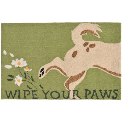 Seavey Hand-Tufted Green Indoor/Outdoor Area Rug Rug Size: 18 x 26