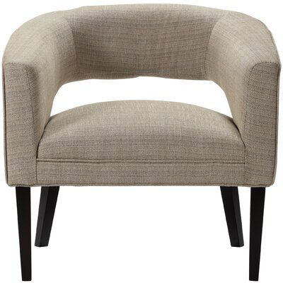 Quintanar Driftwood Barrel Chair Upholstery: Light Gray