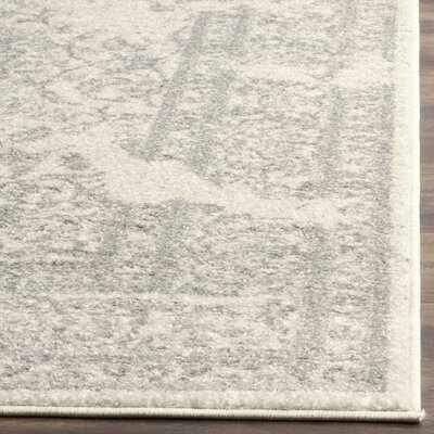 Glover Ivory/Silver Area Rug Rug Size: Rectangle 51 x 76