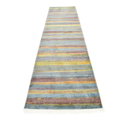 Purington Gray Area Rug Rug Size: Runner 27 x 10