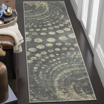 Stave Light Gray Area Rug Rug Size: Runner 22 x 8