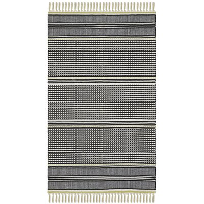 Granada Hand-Woven Lime/Gray Area Rug Rug Size: Rectangle 3 x 5