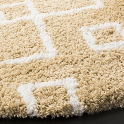 Shead Hand-Tufted Beige/Ivory Area Rug Rug Size: Rectangle 5 x 8