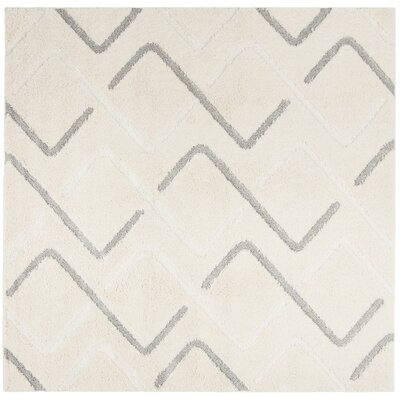 Napfle Geometric Beige Area Rug Rug Size: Rectangle 4 x 6