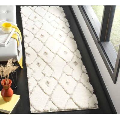 Helms Cream/Brown Area Rug Rug Size: Runner 23 x 8