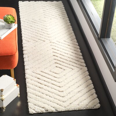Helms Cream/Beige Area Rug Rug Size: Runner 23 x 8