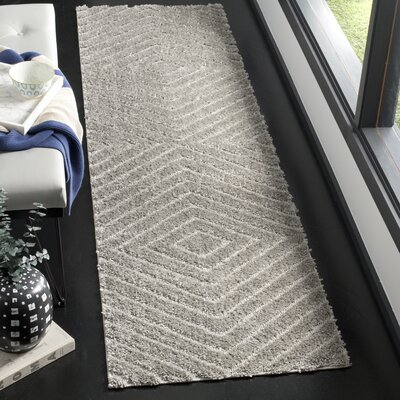 Helms Brown/Gray Area Rug Rug Size: Runner 23 x 8