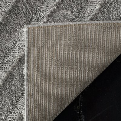 Helms Brown/Gray Area Rug Rug Size: Rectangle 4 x 6