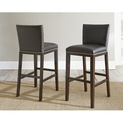 Bouwkamp 30 Bar Stool (Set of 2) Bar Stool Upholstery: Brown