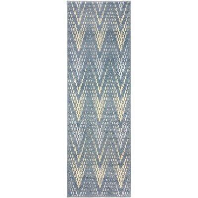 Vergara Arete Blue Area Rug Rug Size: Runner 27 x 8