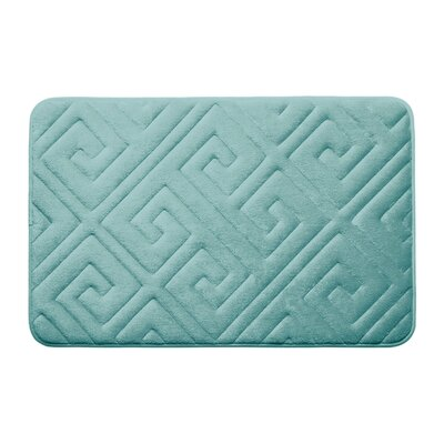 Raney Micro Plush Memory Foam Bath Mat Color: Aqua, Size: 17 L x 24 W