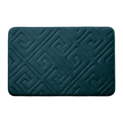 Raney Micro Plush Memory Foam Bath Mat Color: Slate Teal, Size: 17 L x 24 W