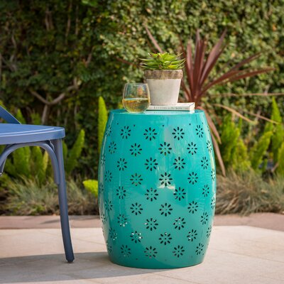 Pastrana Iron Side Table Color: Teal