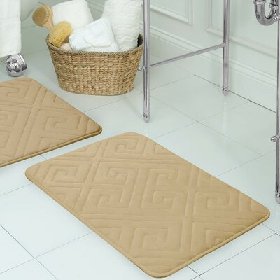 Raney Micro Plush Memory Foam Bath Mat Color: Linen, Size: 17 L x 24 W