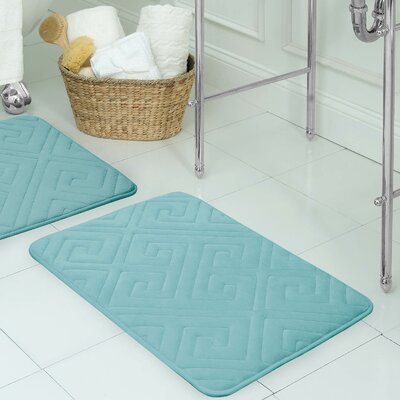 Raney Micro Plush Memory Foam Bath Mat Color: Marine Blue, Size: 17 L x 24 W