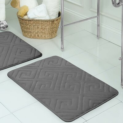 Raney Micro Plush Memory Foam Bath Mat Color: Dark Gray, Size: 17 L x 24 W