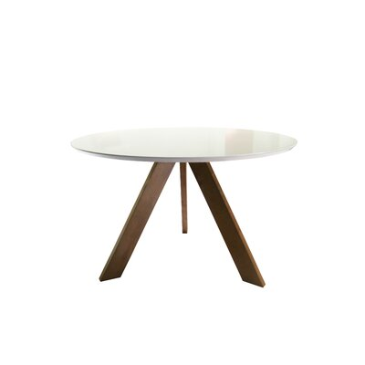 Ramsay Mid Century Modern Dining Table Base Color / Top Color: North Teak / Matte White