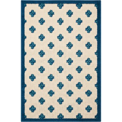 Gatti Blue Indoor/Outdoor Area Rug Rug Size: Rectangle 28 x 4
