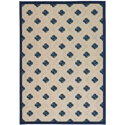 Gatti Blue Indoor/Outdoor Area Rug Rug Size: 5'3