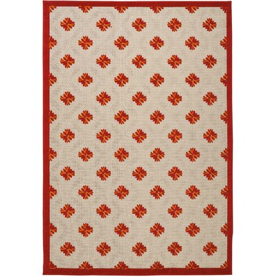 Gatti Red Indoor/Outdoor Area Rug Rug Size: Rectangle 53 x 75