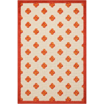 Gatti Red Indoor/Outdoor Area Rug Rug Size: Rectangle 28 x 4