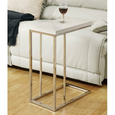 Myrtlewood End Table Color: Glossy White