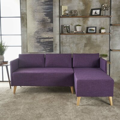 Ferrel Sectional Color: Muted Purple
