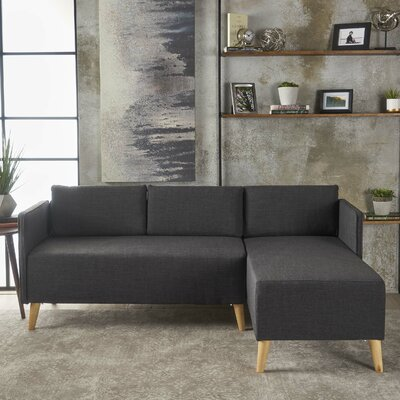 Ferrel Sectional Color: Muted Dark Gray