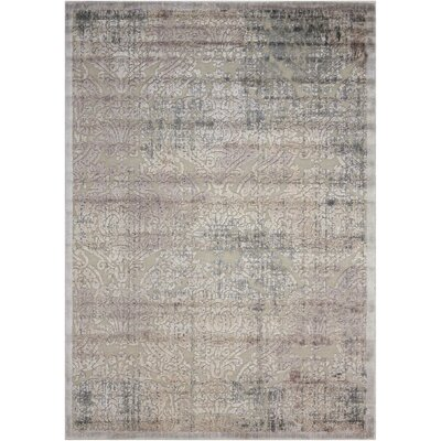 Simms Gray Area Rug Rug Size: Rectangle 53 x 75