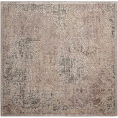 Simms Gray Area Rug Rug Size: Square 67