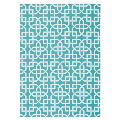 Sheedy Aqua Indoor/Outdoor Area Rug Rug Size: Rectangle 53 x 75