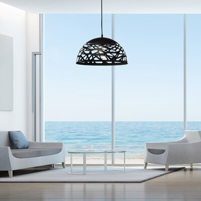 Montross Modern Touch Inverted Pendant Shade Color: Black