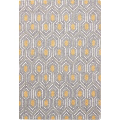 Iseminger Hand-Tufted Ash Area Rug Rug Size: Rectangle 34 x 5