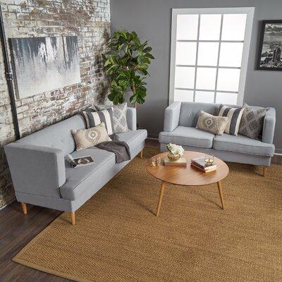 Quijada 2 Piece Living Room Set Upholstery: Light Gray