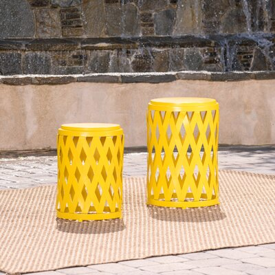 Quinlan 2 Piece Nesting Tables Color: Matte Yellow