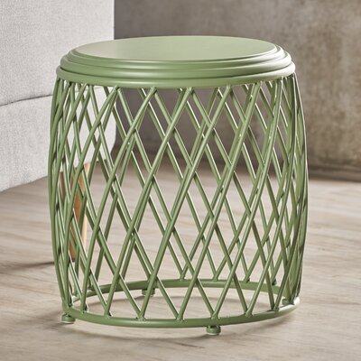 Ranallo Indoor Iron End Table Color: Green
