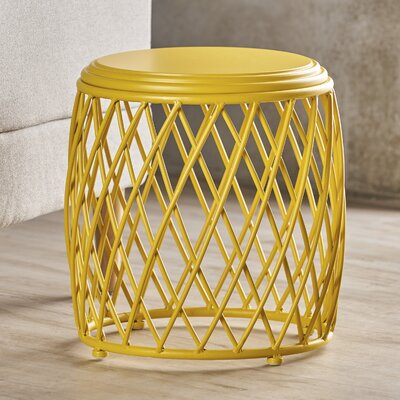 Ranallo Indoor Iron End Table Color: Yellow