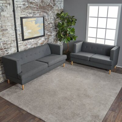 Quijada 2 Piece Living Room Set Upholstery: Charcoal Gray