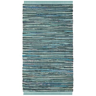 Shatzer Hand-Woven Turquoise Area Rug Rug Size: Rectangle 2 x 3