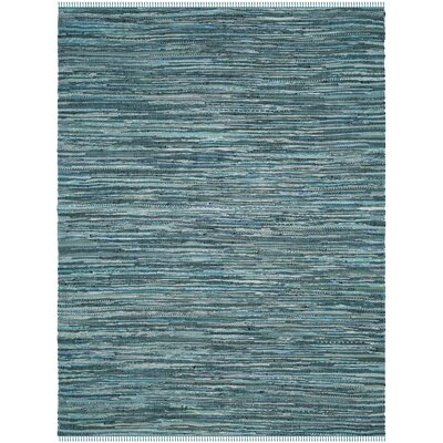 Shatzer Hand-Woven Turquoise Area Rug Rug Size: Rectangle 9 x 12