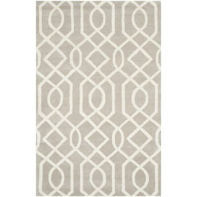 Schaub Grey/Ivory Area Rug Rug Size: Rectangle 6 x 9